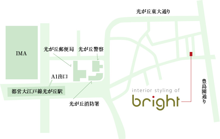interior styling of bright 所在地マップ