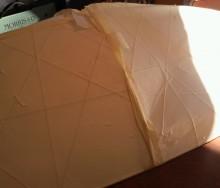 和紙のシーリングライトを貼り替えました