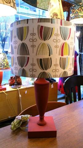 15クラーク&クラーク・テーブルランプ(赤)