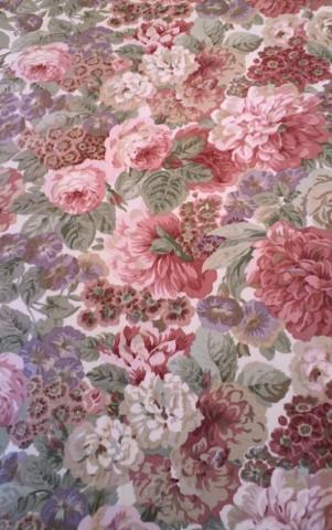 21サンダーソン花柄プリント生地1