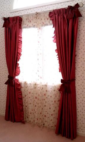 19リホ?ン・フリル付きスタイルカーテン1