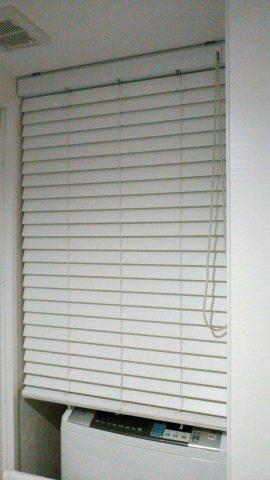 棚の目隠し 木製ブラインド