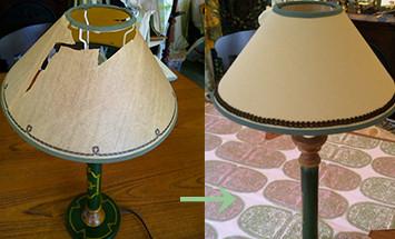 ランプ 修復前 → 修復後イメージ画像