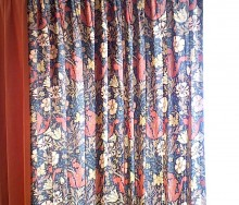 ウィリアムモリスのカーテン