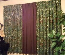 カーテンの掛け替え
