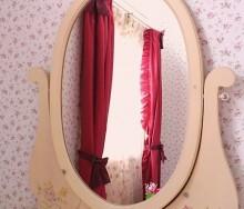 リボンとフリルのスタイルカーテン