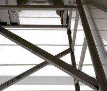 高所のカーテンクリーニング