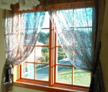 高窓 紐引きカーテンレール 輸入オーダーカーテン・輸入壁紙のブライト